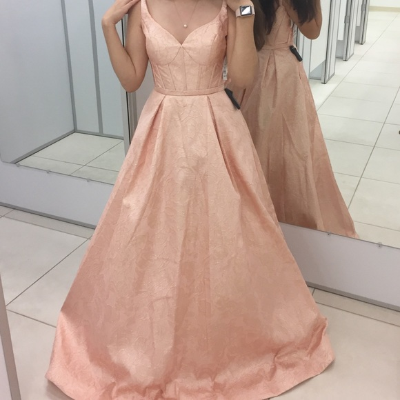 Camille La Vie Dresses | Coral Pink Prom Dress Ball Gown | Poshmark